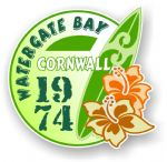 Cornwall Watergate Bay 1974 Surfer Surfing Design Vinyl Car sticker decal 97x95mm